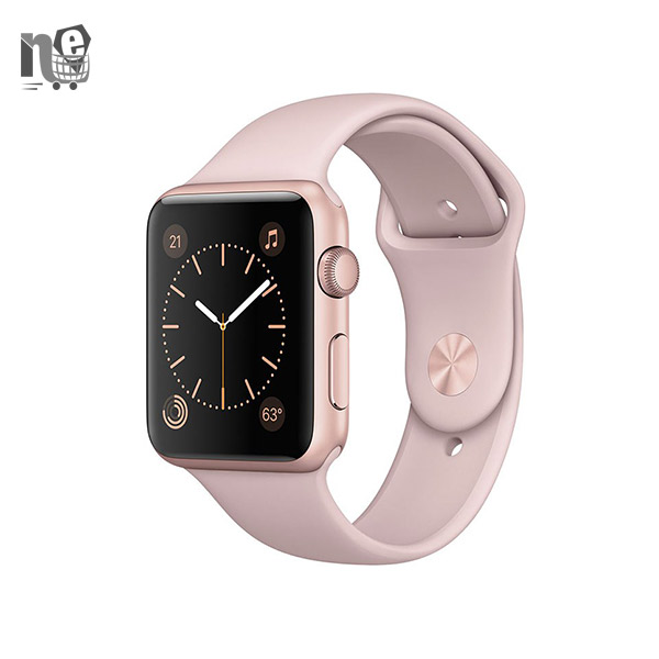 ساعت هوشمند اپل واچ 2 بند اسپرت صورتی – Apple Watch 2 42mm Rose Gold Aluminium Case with Pink Sand Sport Band